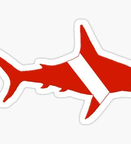 Shark Scuba Diver Silhouette Sticker