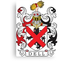Dell Coat of Arms Coat of Arms Canvas Print