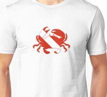 Crab Scuba Diver Silhouette Unisex T-Shirt