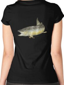 Brown Trout Women's Fitted Scoop T-Shirt