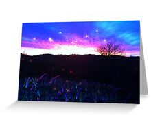Mystical Fantasy When The Sun Sets Greeting Card