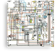 1972 car wiring diagram Canvas Print