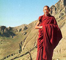 Young Tibetan monk by jensNP