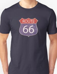 Route 66 Road Sign Unisex T-Shirt