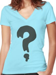Gravity Falls Soos/Mystery Shack Staff ? Logo Women's Fitted V-Neck T-Shirt