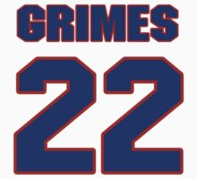 National football player Billy Grimes jersey 22 by imsport