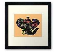 DC Elephant BLK orange ALT Framed Print
