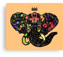DC Elephant BLK orange ALT Canvas Print