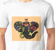 DC Elephant BLK orange ALT Unisex T-Shirt