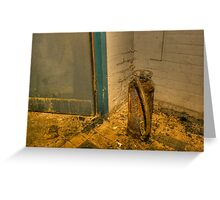Rotting fire extinguisher Greeting Card