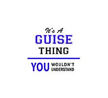 It's a GUISE thing, you wouldn't understand !! by thenamer