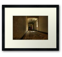 Corridor and floor Framed Print