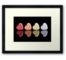 Candy Hearts Framed Print