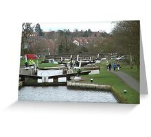 Hatton Locks  Greeting Card