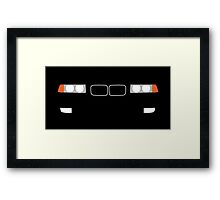 1991-1999 BMW 3 Series (E36) Kidney grill and headlights Framed Print
