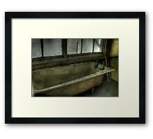 Rotten Bath Framed Print