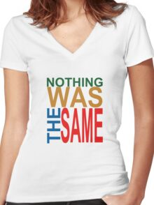 Nothing Was The Same III Women's Fitted V-Neck T-Shirt