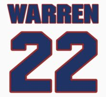 National football player Jimmy Warren jersey 22 by imsport