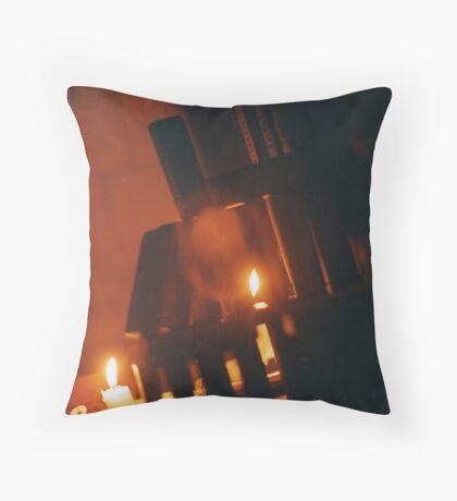 jenga castles Throw Pillow