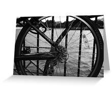 The Thames Through Spokes Greeting Card