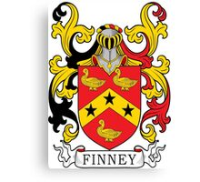 Finney Coat of Arms Canvas Print