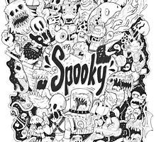 Spooky Doodleart by allanohr