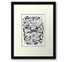 Spooky Doodleart Framed Print