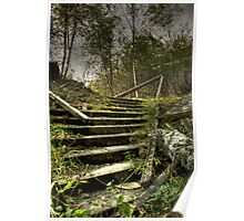 Sticks and stairs Poster