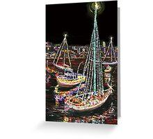 Newport Beach Christmas Boat Parade Greeting Card