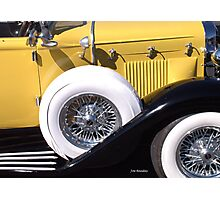 Yellow Roadster Photographic Print