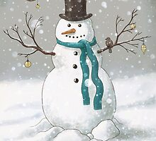 Christmas Snowman  by Terry  Fan