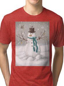 Christmas Snowman  Tri-blend T-Shirt