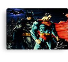 Superman VS Batman   Canvas Print