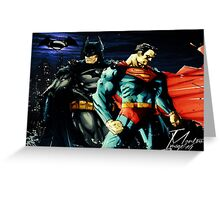 Superman VS Batman   Greeting Card