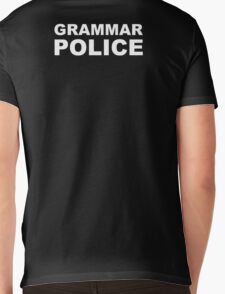 Grammar Police Mens V-Neck T-Shirt