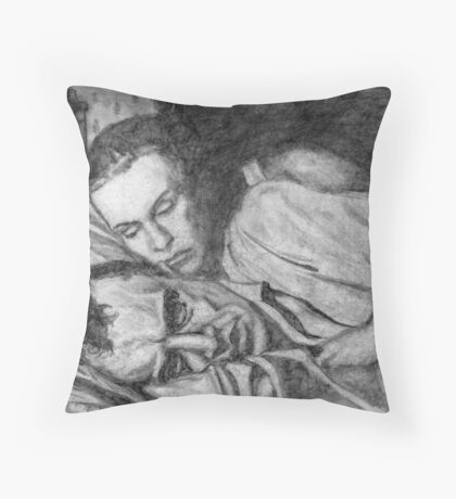 Max and Ingrid Throw Pillow