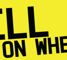HELL on WHEELS on a licence plate DRIVER! Sticker
