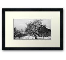 THE MENNONITE BARN Framed Print