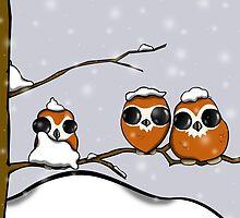 Snowy Owlets by n140