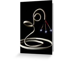 NAKED COIL Greeting Card
