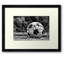 Soccer Ball Framed Print