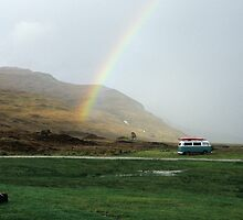 Rainbow at Campsite by Kasia Nowak