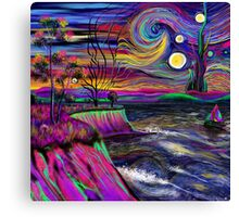 Psychedelic landscape Canvas Print