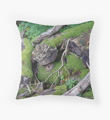 logs Throw Pillow