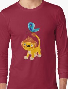 Leo and Butterfly Long Sleeve T-Shirt
