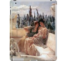 Whispering Noon 1896 By Sir Lawrence Alma-Tadema iPad Case/Skin