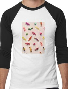 Sweet Candy Painted Pattern Men's Baseball ¾ T-Shirt