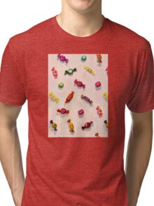 Sweet Candy Painted Pattern Tri-blend T-Shirt