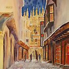 Christmas card -Evening Canterbury by Beatrice Cloake
