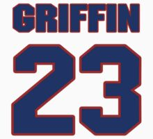 National football player Cedric Griffin jersey 23 by imsport
